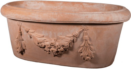 Ovale Festonato - Terra Cotta Planter - Tuscan Imports