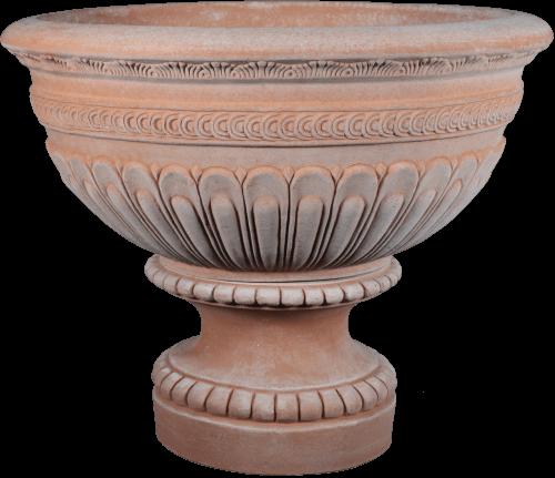 Ciotala Decorata With Base Image 2 - Terra Cotta Planter - Tuscan Imports
