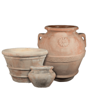 The Antiqued Sienna Collection - Italian Terracotta Pottery
