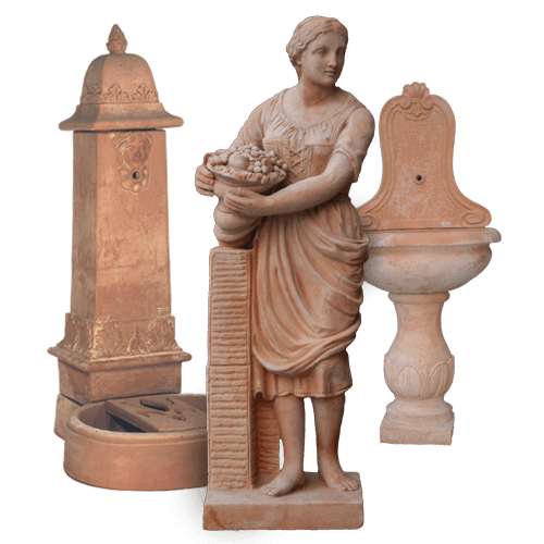 Statues & Fountains – Terra Cotta Pots