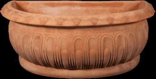 Mezzo Vaso Bacellato - Terra Cotta Planter