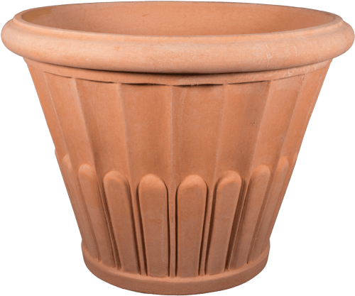 Vaso Scanalato - Terra Cotta Planter